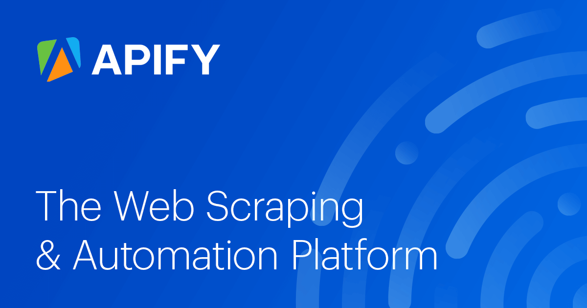 Getting started with Apify Scrapers · Apify Docs