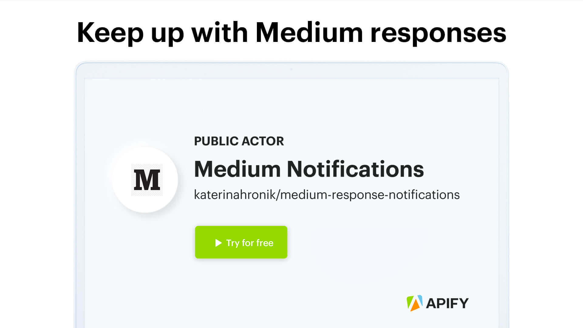 Video tutorial for scraping notifications on your Medium posts.